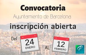 convocatoria ayuntamiento de barcelona
