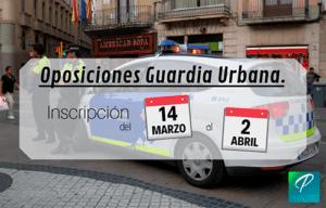 inscripción oposiciones guardia urbana