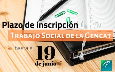 Convocadas 173 plazas de Trabajo Social de la Generalitat
