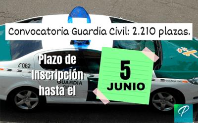 Comienza el plazo de inscripción para las oposiciones de Guardia Civil 2019