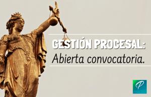 convocatoria gestión procesal 2019