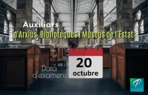 places auxiliar arxius biblioteques museus