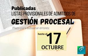 fecha examen gestión procesal