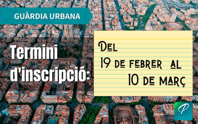 Convocades les 282 places d'Agent de la Guàrdia Urbana de l'Ajuntament de Barcelona