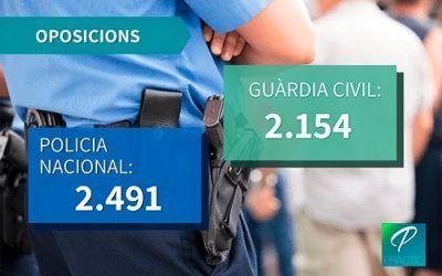 El govern anuncia una pròxima convocatòria per a Policia Nacional i Guàrdia Civil