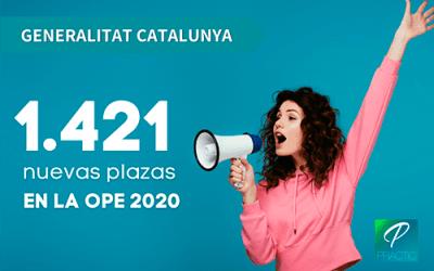La Generalitat de Cataluña aprueba la nueva Oferta de Empleo Público 2020