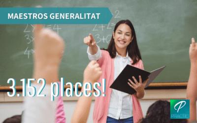 Nova oferta de places per al cos de mestres de la Generalitat