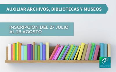 Ya puedes inscribirte a la convocatoria de Auxiliar Archivos, Bibliotecas y Museos del Estado