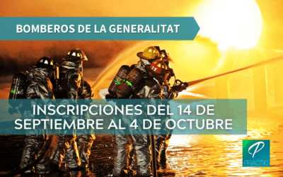 Se han convocado 250 plazas para el cuerpo de Bomberos de la Generalitat